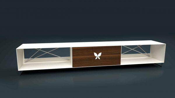 tv-lowboard-weiss-holz-metall-board-moebel-fernsehtisch-bank-tisch-design-modern-massivholz-nussbaum-mit-fuessen-edelstahl-pure-mnmlsm-m