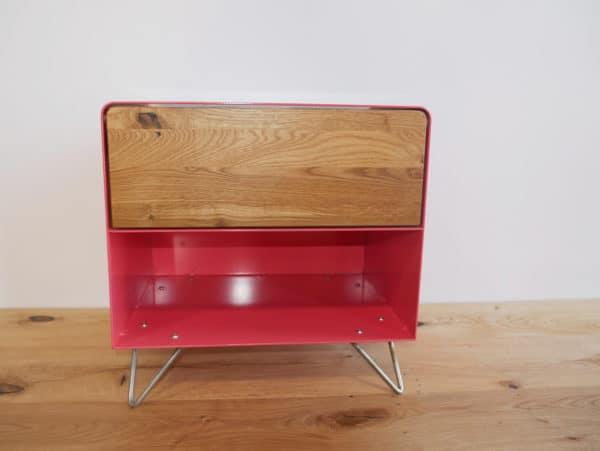 nachttisch-nachtkonsole-nachtschrank-nachtkaestchen-nachtkommode-holz-eiche-metall-massivholz-wildeiche-modern-design-rot-rose-hairpin-fuesse-mit-schublade