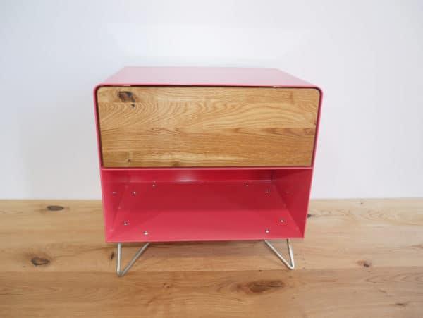 nachttisch-nachtkonsole-nachtschrank-nachtkaestchen-nachtkommode-holz-eiche-metall-massivholz-wildeiche-modern-design-rot-rose-hairpin-legs-stahlzart
