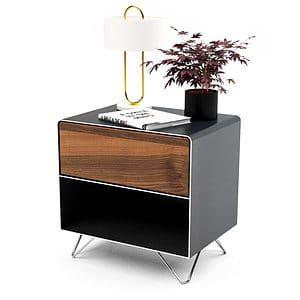 nachttisch-schwarz-grau-nachtkaestchen-holz-metall-modern-design-industrial-massivholz-nussbaum-mit-schublade-designermoebel-fly-high-3-stahlzart