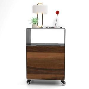 nachttisch-fuer-boxspringbett-schwarz-grau-holz-metall-modern-design-massivholz-nussbaum-mit-rollen-mit-tuer-designer-schlafzimmer-stahlzart