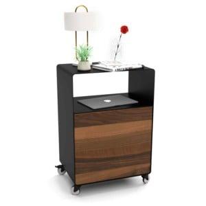 nachttisch-fuer-boxspringbett-schwarz-holz-metall-modern-design-massivholz-nussbaum-mit-rollen-mit-tuer-designermoebel-schlafzimmer-stahlzart