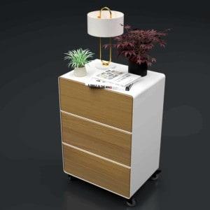 nachttisch-fuer-boxspringbett-weiss-holz-eiche-metall-modern-design-mit-schubladen-mit-rollen-eiche-natur-astfrei-designer-schlafzimmer-stahlzart
