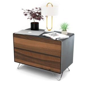 nachttisch-schwarz-grau-holz-metall-modern-industrial-design-massivholz-nussbaum-mit-schublade-fly-high-6-stahlzart