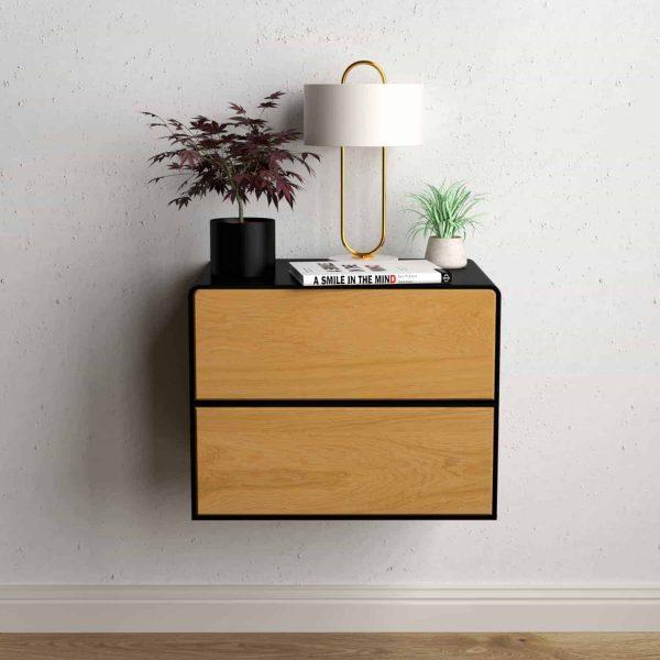 nachttisch-schwarz-haengend-holz-eiche-metall-modern-industrial-design-massivholz-wildeiche-mit-schublade-minimalistisch-stahlzart