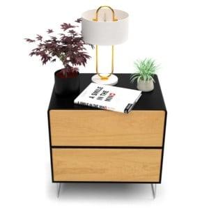 nachttisch-schwarz-holz-eiche-metall-modern-design-industrial-massivholz-mit-schublade-wildeiche-minimalistisch-stahl-fly-high-5s