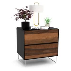 nachttisch-schwarz-holz-metall-modern-design-industrial-massivholz-nussbaum-mit-schublade-schlafzimmer-fly-high-5s