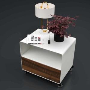 nachttisch-weiss-holz-metall-modern-design-industrial-massivholz-mit-schublade-nussbaum-designer-mit-rollen-m.a.m.-1-stahlzart