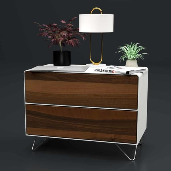 nachttisch-weiss-holz-metall-modern-industrial-design-massivholz-nussbaum-mit-schublade-schlafzimmer-minimalistisch-fly-high-6-stahlzart