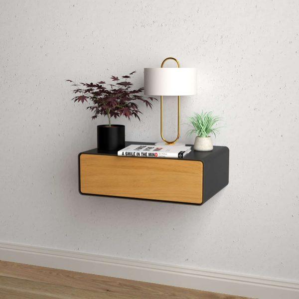 nachttisch-schwarz-grau-haengend-holz-eiche-metall-modern-design-massivholz-wildeiche-mit-schublade-minimalistisch-schlafzimmer-dreams-1