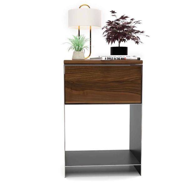 nachttisch-schwarz-grau-holz-metall-modern-design-massivholz-nussbaum-mit-schublade-schlafzimmer-fuer-boxspringbett-minimalistisch-classic-1