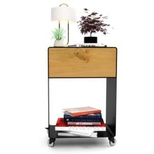 nachttisch-schwarz-holz-eiche-metall-modern-design-massivholz-mit-schublade-wildeiche-minimalistisch-mit-rollen-stahl-m.a.m.-3