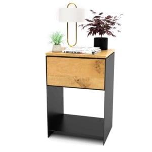 nachttisch-schwarz-holz-eiche-metall-modern-design-massivholz-wildeiche-mit-schublade-stahl-minimalistisch-classic-1