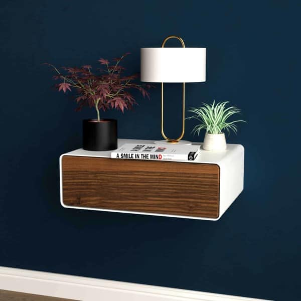 nachttisch-weiss-haengend-holz-metall-modern-design-massivholz-nussbaum-mit-schublade-minimalistisch-schlafzimmer-stahlzart-dreams-1