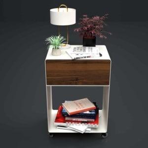 nachttisch-weiss-holz-metall-modern-design-massivholz-mit-schublade-nussbaum-minimalistisch-mit-rollen-m.a.m.-3