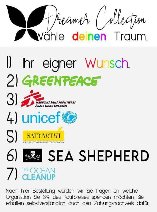 dreamer-collection-donate-spenden-the-ocean-cleanup-sea-shepherd-satyarthi-childrens-foundation-unicef-aerzte-ohne-grenzen-greenpeace-ihr-eigener-wunsch