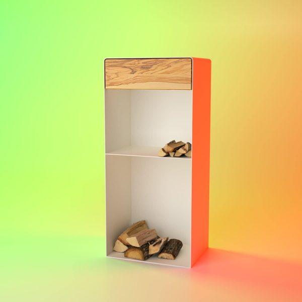 kaminholzregal-metall-innen-stahl-wohnzimmer-mit-rueckwand-mit-schublade-weeiss-massivholz-olive-modern-designermoebel-minimalist-stahlzart-dreamer-collection