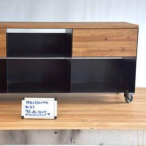 tv-sideboard-schwarz-holz-eiche-metall-modern-design-industrial-massivholz-wildeiche-mit-schubladen-mit-rollen-kabelauslaesse-b-ware-stahlzart-now